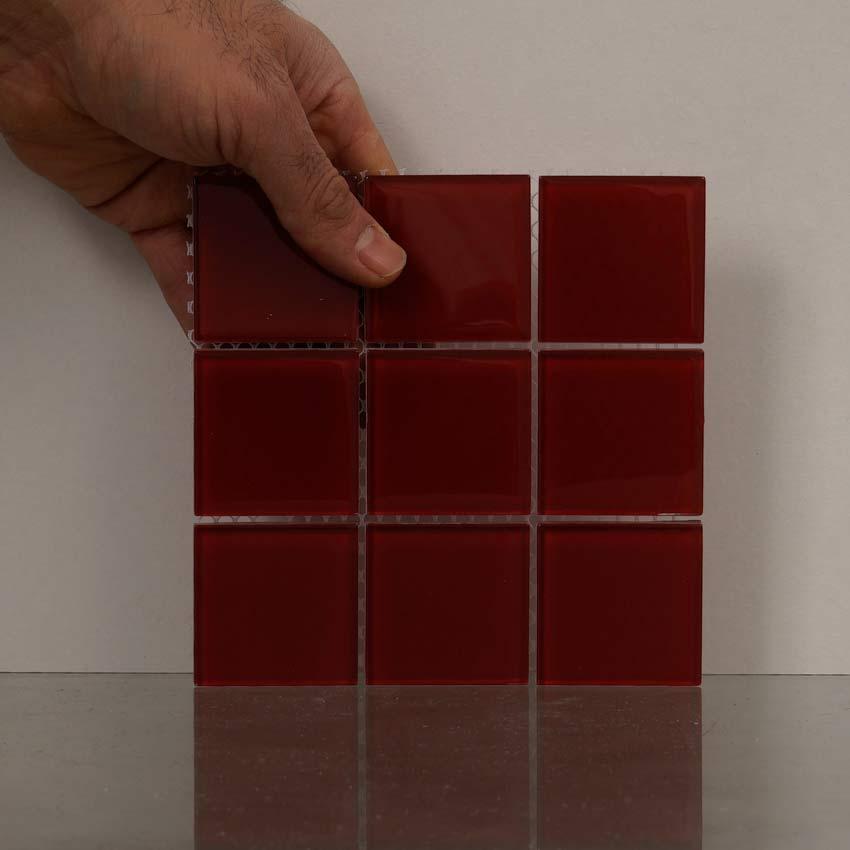 pure glass r d 5x5 2 kakel online tiles r us ab. Black Bedroom Furniture Sets. Home Design Ideas