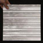 Stav Mosaik Aluminium Silver Borstad