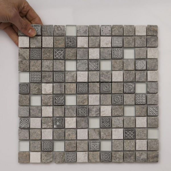 Mosaik Inka Mix Grey Stone 300x300