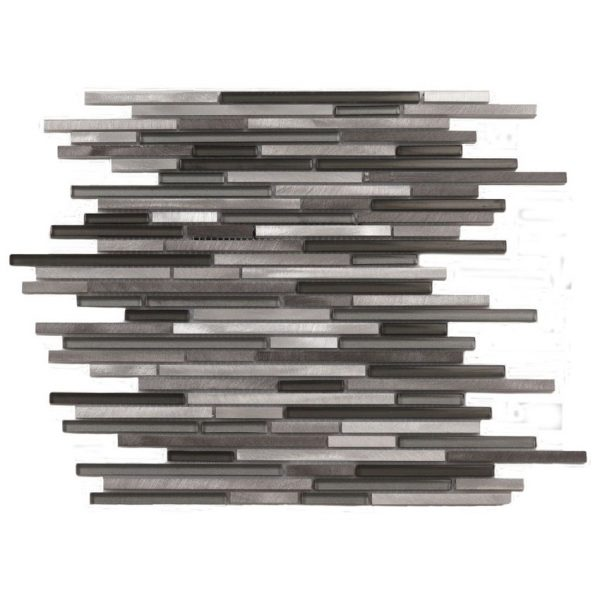 Mosaik Sticks Steel Black 298x298