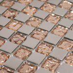 Silver-Brons kristallmosaik