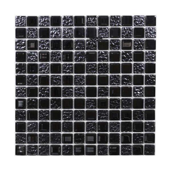 mörkblå-svart kristallmosaik