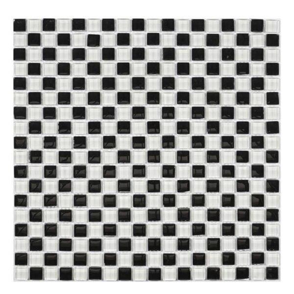 svart-vit-kristallmosaik
