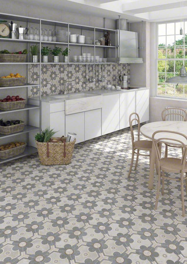Hexagon klinker yerevan 23x26 6 kakel online tiles r us ab for Comedor hexagonal