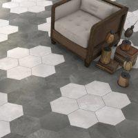Klinker Hexagon Rift Grafito 23X26,6