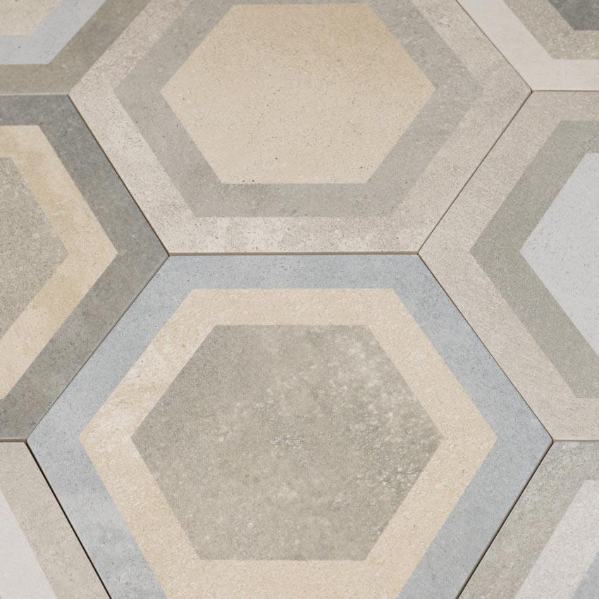 hexagon klinker bushmills multicolor 23x26 6 kakel. Black Bedroom Furniture Sets. Home Design Ideas