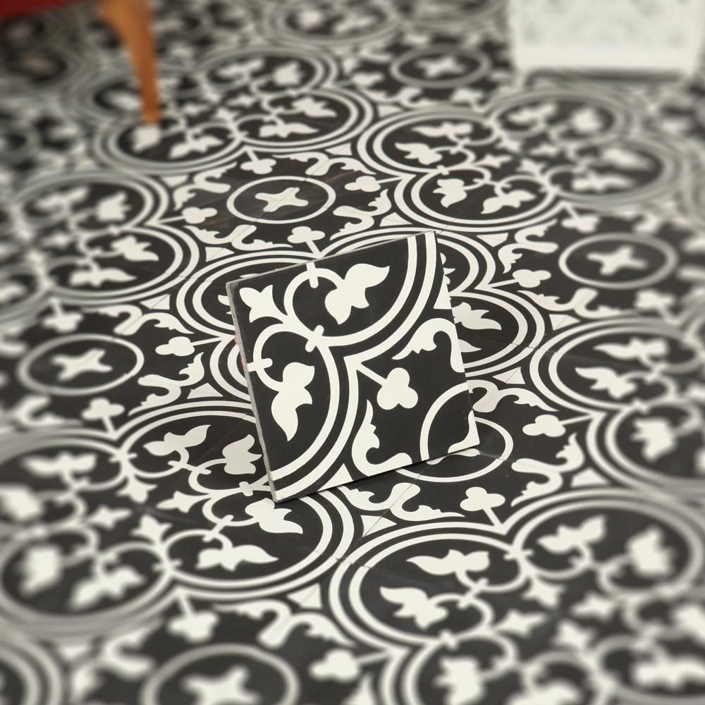 Marockanskt kakel safi black 20x20   kakel online tiles r us ab