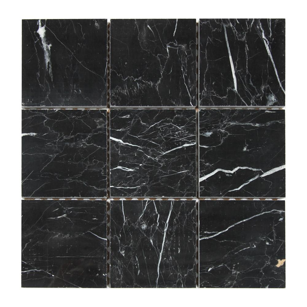 Mosaik Marmor Svart Polerad 30X30 - Kakel Online-Tiles R Us AB