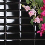Kakel Metro Black 7,5X15