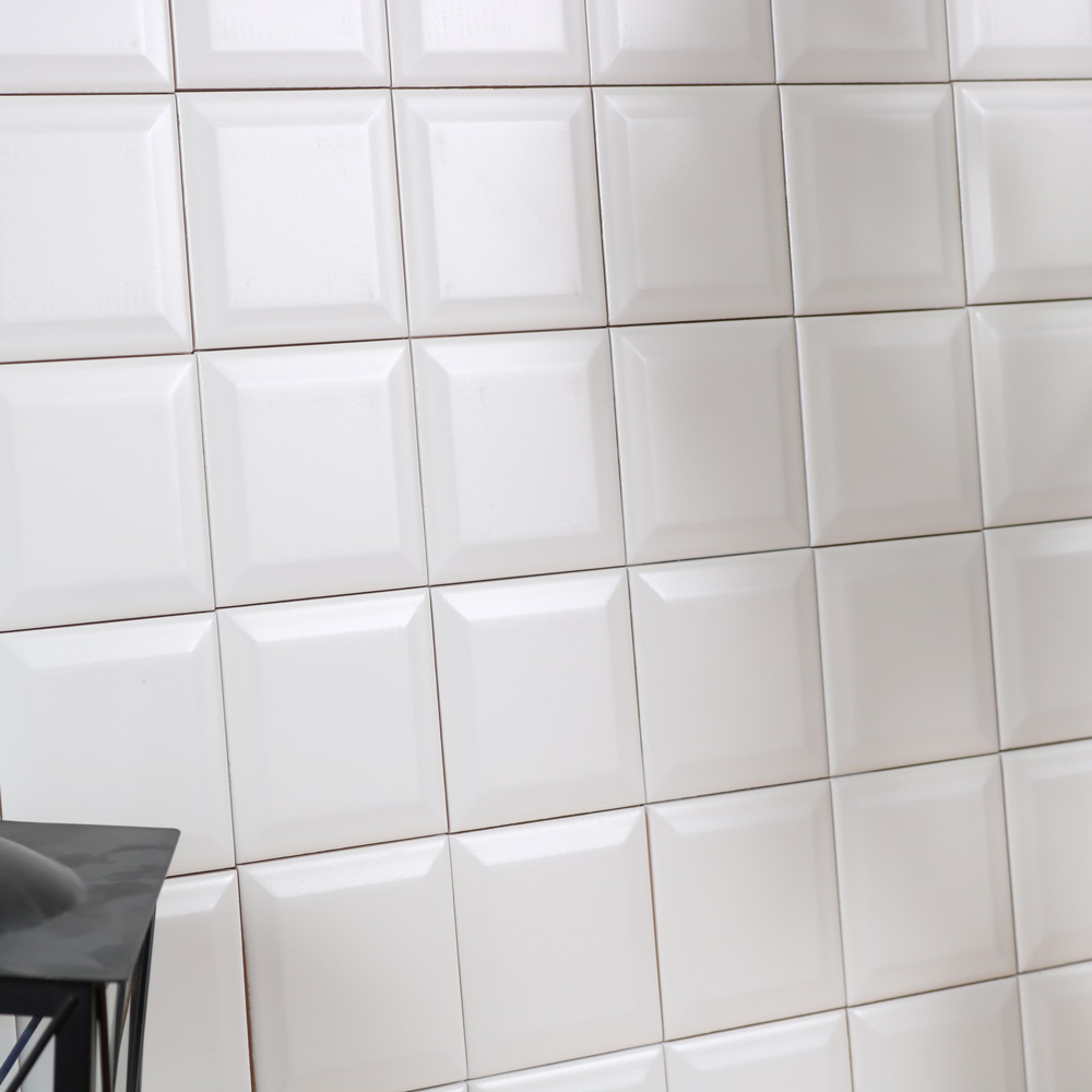 Metro Kakel Vitt Matt 10X10 - Kakel Online-Tiles R Us AB