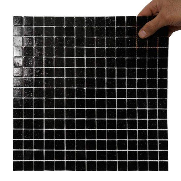 Glasmosaik Black Black 32,7X32,7