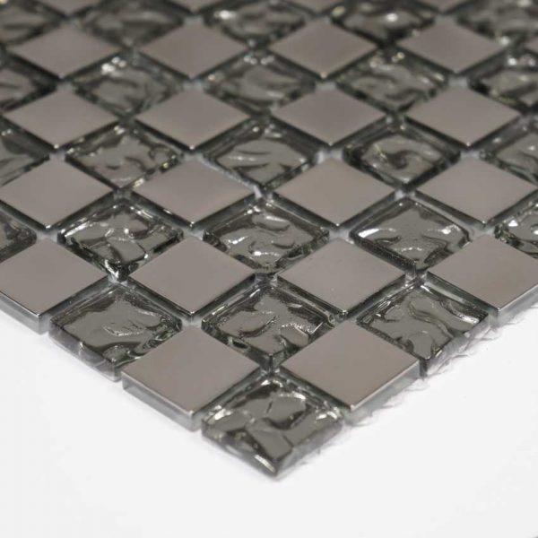 Kristallmosaik Glow Silver 30X30