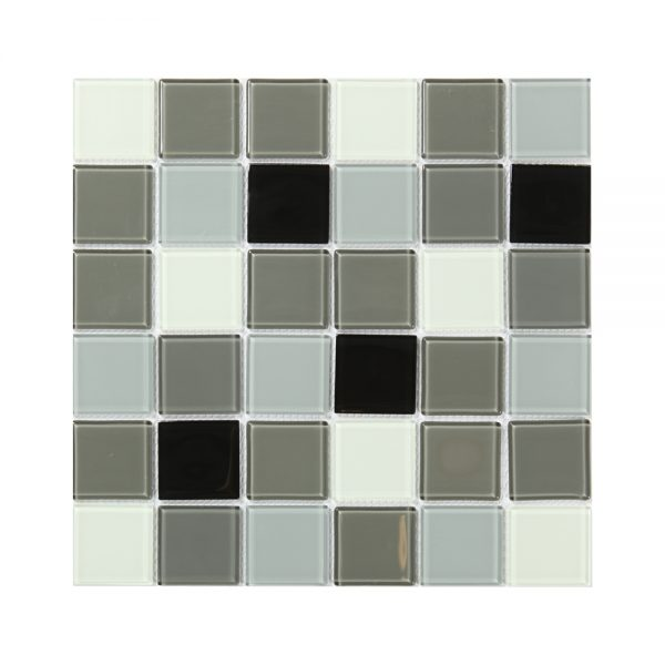 Kristallmosaik Black White and Grey 30X30