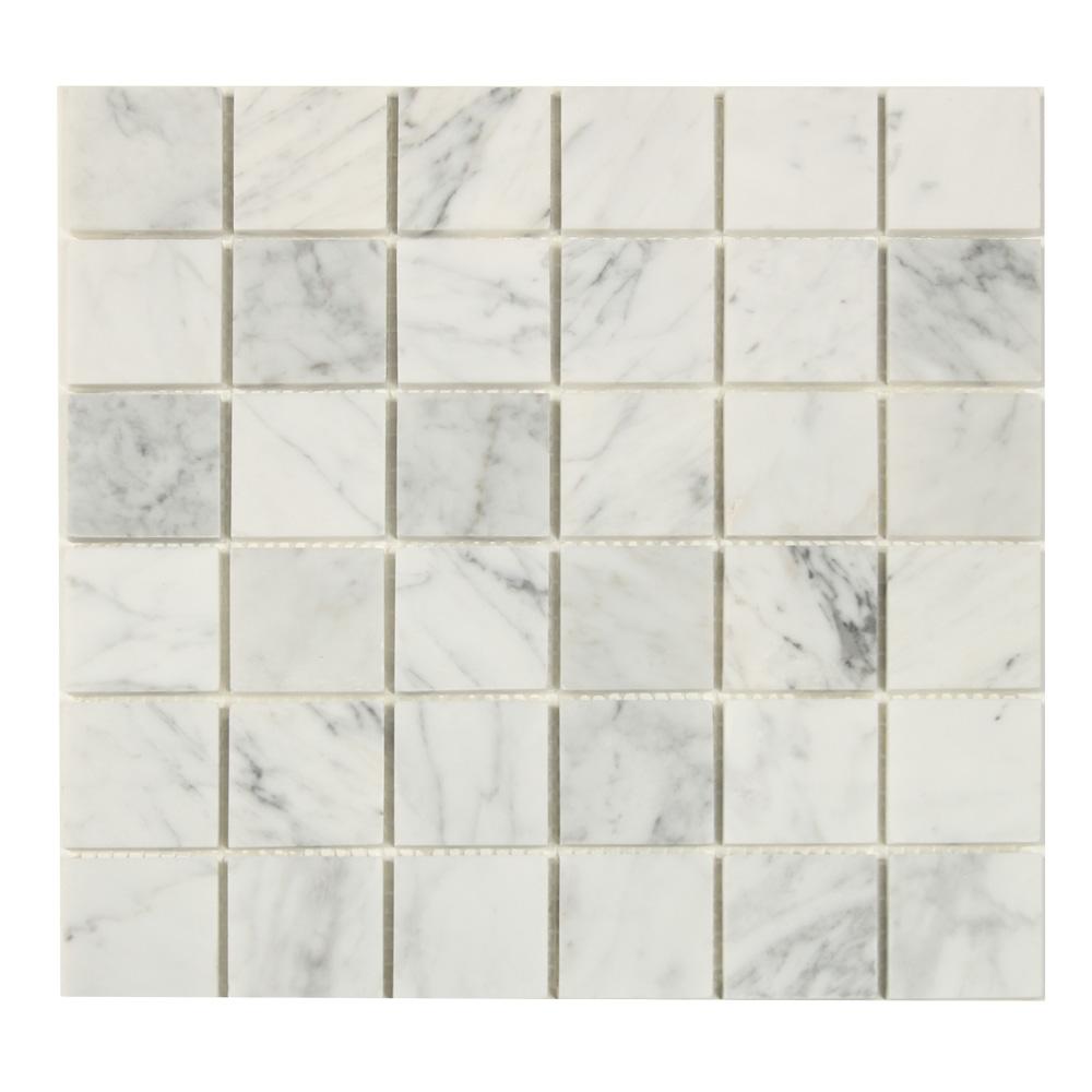 mosaik white marble grey 30x30 kakel online tiles r us ab. Black Bedroom Furniture Sets. Home Design Ideas