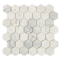 Hexagon Carrara White 5X5