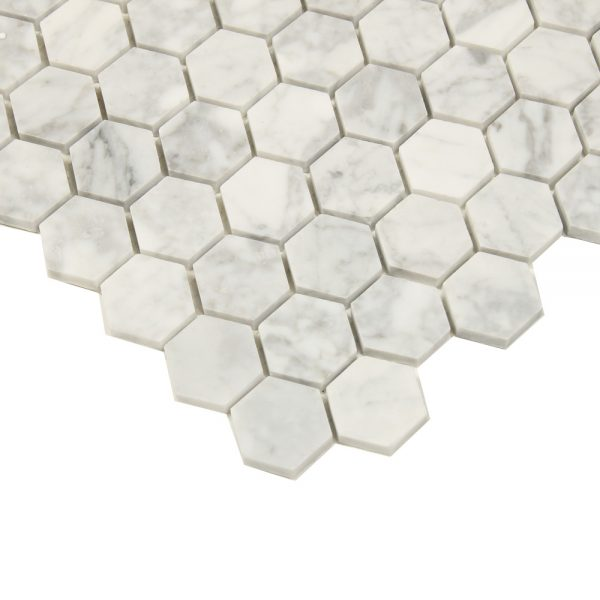 Mosaik White And Grey Marble Hexagon 30X30
