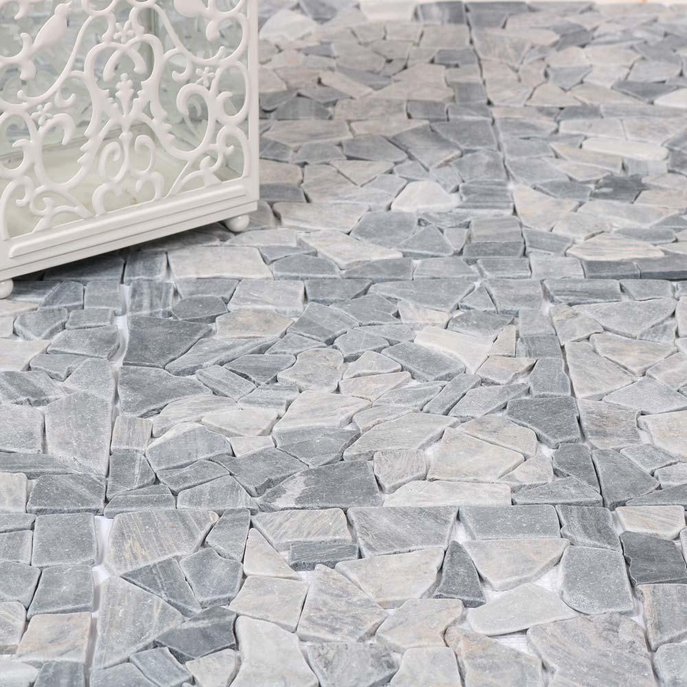 Natursten mosaik Grey Mix 30,5X30,5 - Kakel Online-Tiles R Us AB