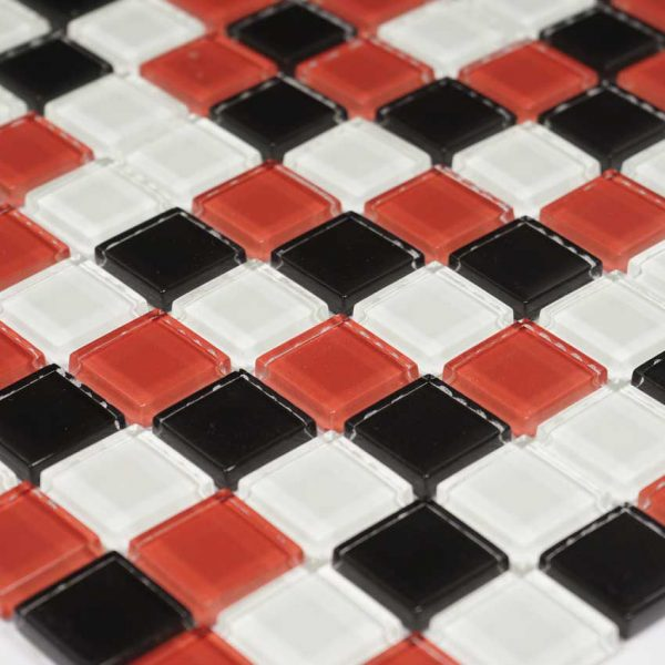 Kristallmosaik Red Checkers 30X30