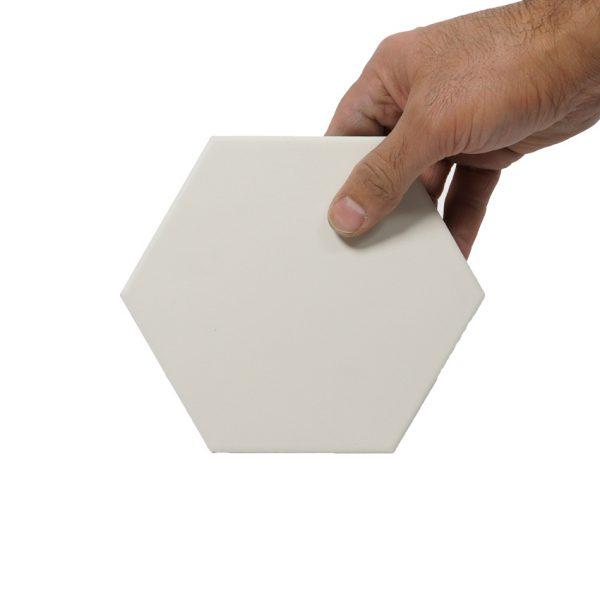 Klinker Hexagon White 14X16