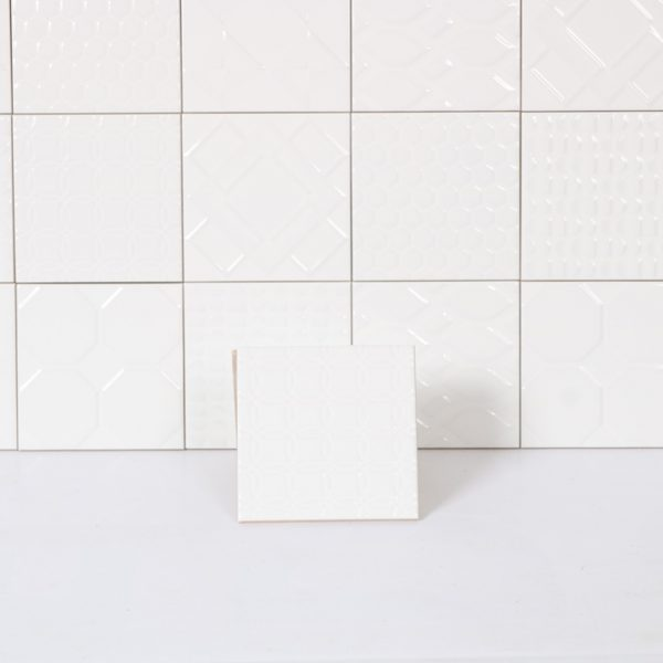 Kakel White Patchwork 15X15