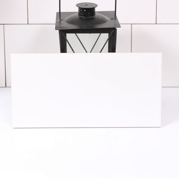 Kakel Vitt Blank 20X40