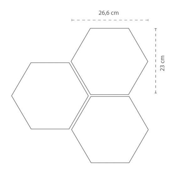 Hexagon Klinker Rift Blanco 23X26,6