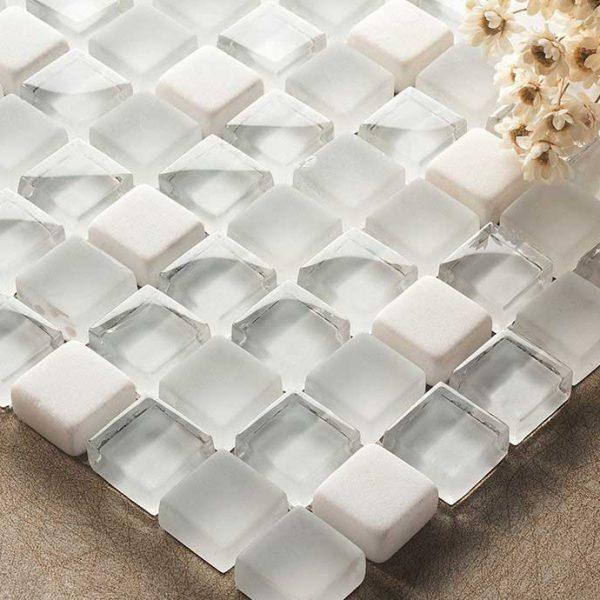 Kristallmosaik Snow Stone 30X30