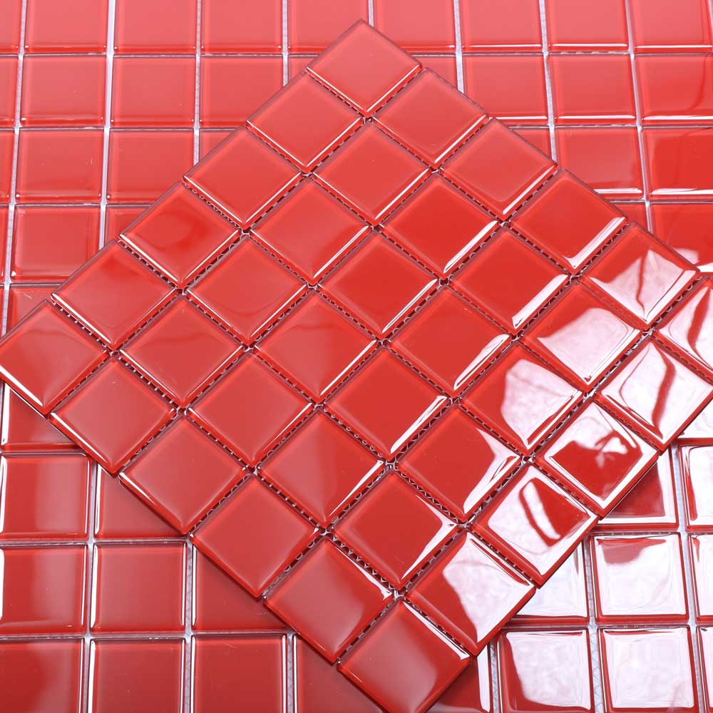 Kristallmosaik Red Rose 4,8X4,8 - Kakel Online-Tiles R Us AB
