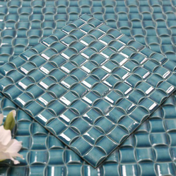 Mosaik Blue Tetris 30,4X30,4