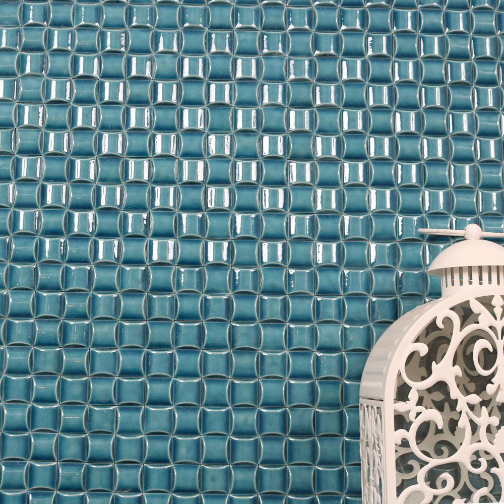 Mosaik Blue Tetris 30,4X30,4 - Kakel Online-Tiles R Us AB