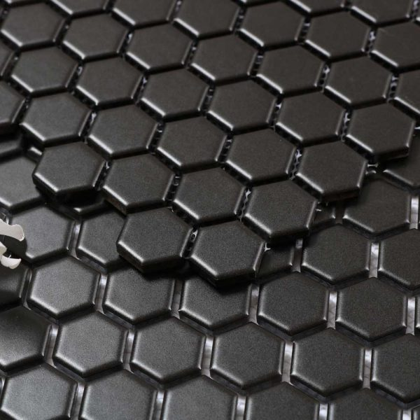 Mosaik Hexagon Black 26X30