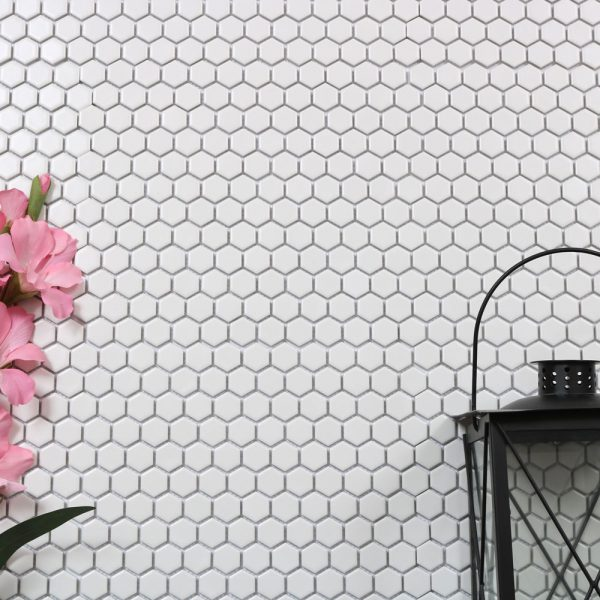 Mosaik Hexagon White 26X30