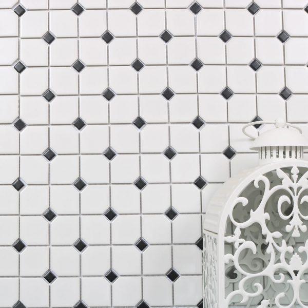 Mosaik White And Black 30,3X30,3