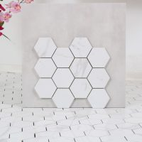 Mosaik Hexagon Carrara 30,8X32,8