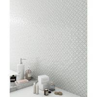 Glasmosaik BR White 32,4X31,7