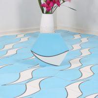 Marockanskt Kakel Heksagon Tikki Blue 20X23,2