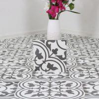 Marockanskt Kakel Safi Black and White 20X20