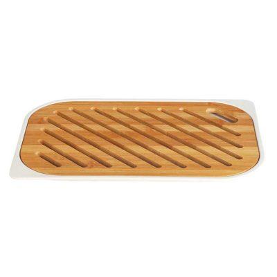 Brödskärbräda med bas i bambu