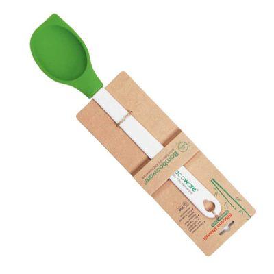 Slev i silikon (rund/rak) med bambuhandtag