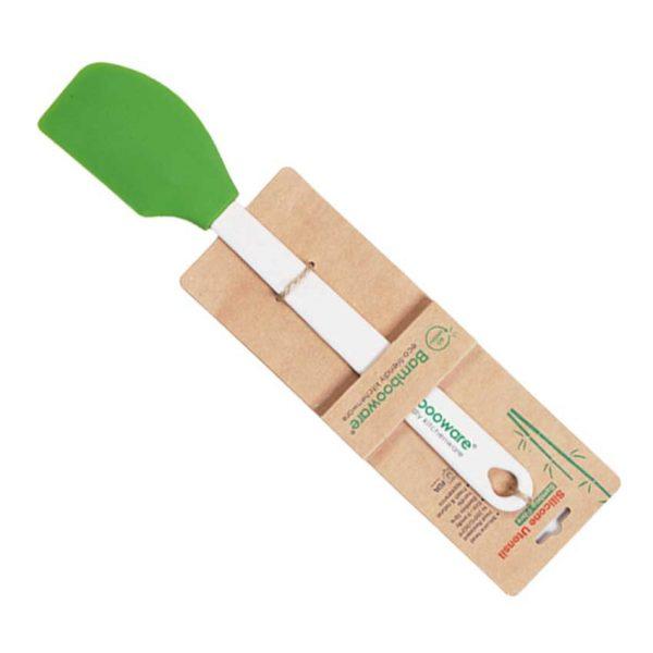 Spatel i silikon och bambuhandtag