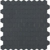 Glasmosaik Matt Dark Grey Hex 31,7X30,7