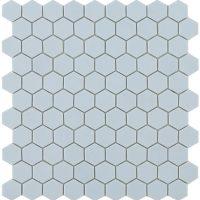 Glasmosaik Matt Light Blue Hex 31,7X30,7