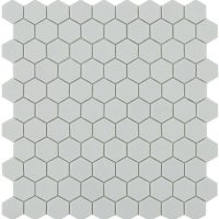Glasmosaik Matt Light Grey Hex 31,7X30,7
