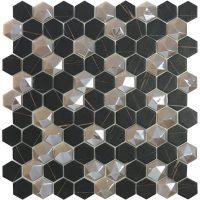 Glasmosaik Sahara Mix Coffee Hex 31,7X30,7