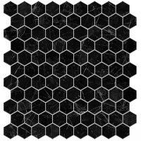 Glasmosaik Supreme Marquina Hex 31,7X30,7
