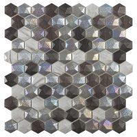 Glasmosaik Forest Mix Hex 31,7X30,7