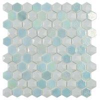 Glasmosaik Glacier Mix Hex 31,7X30,7