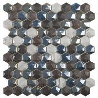Glasmosaik Sapelly Mix Hex 31,7X30,7